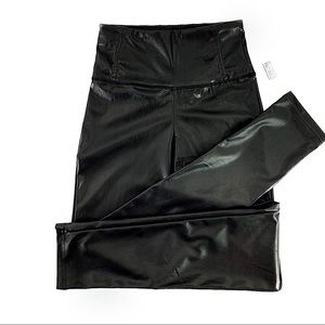 Rue21 Black Pleather Leggings High Waist Small NWT